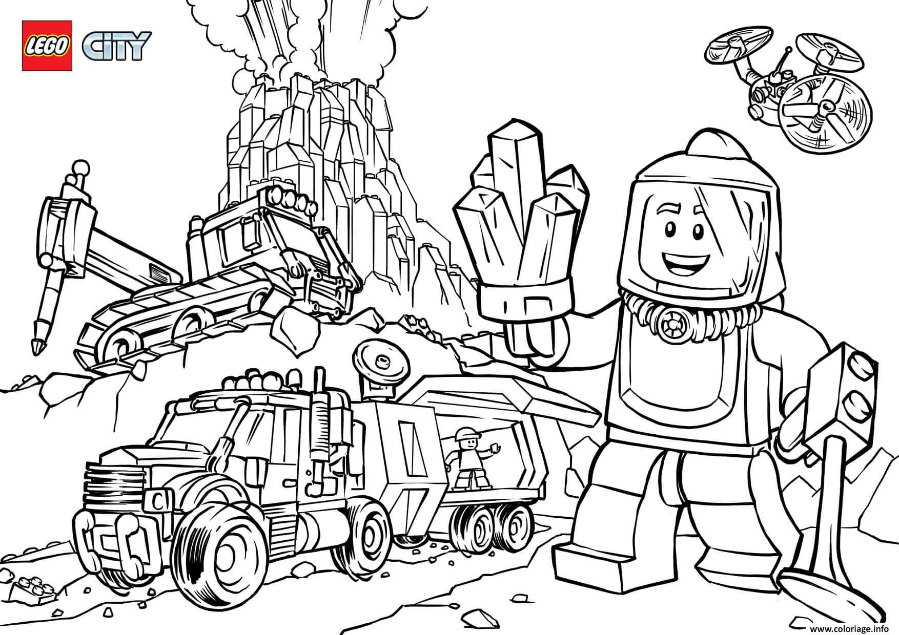 Coloriage Lego City Volcano Explorers Jecolorie Com
