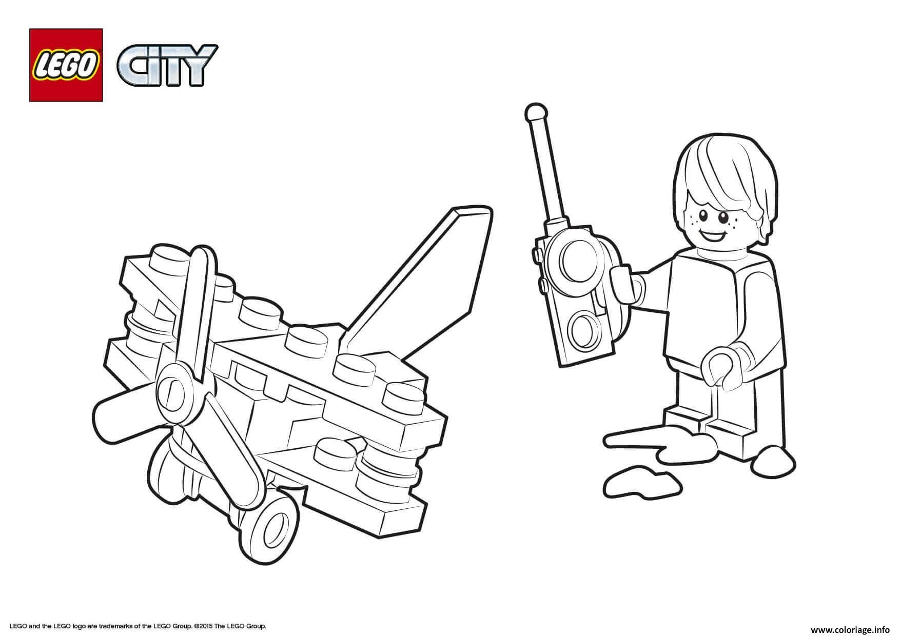 Dessin Lego City Small Plane Coloriage Gratuit à Imprimer
