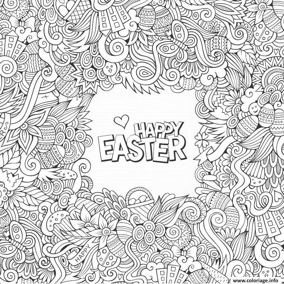 Dessin wt2 doodle paques par olga_kostenko Coloriage Gratuit à Imprimer
