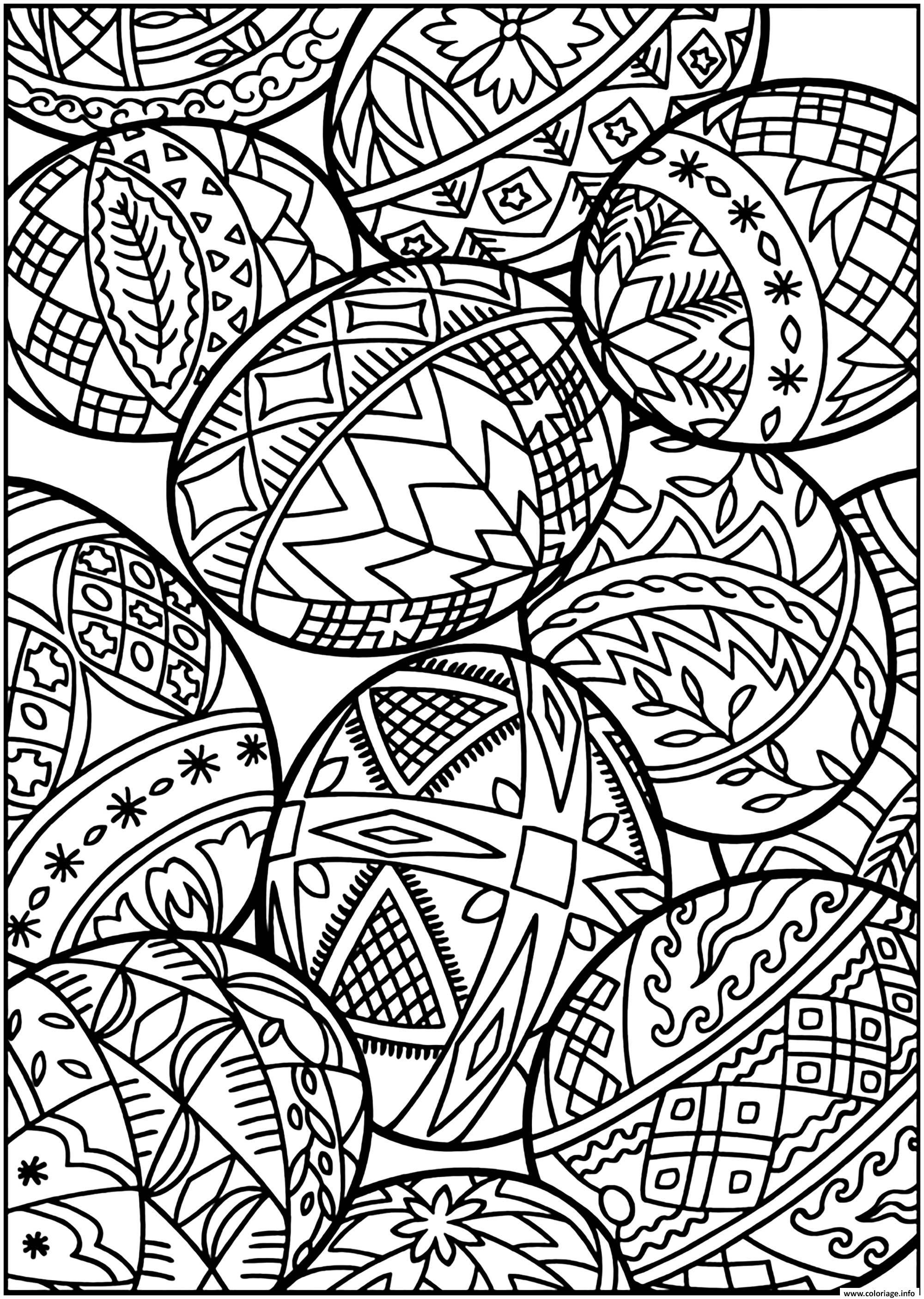 Coloriage Oeuf De Paques Egg Pattern Dessin Paques Adulte ...
