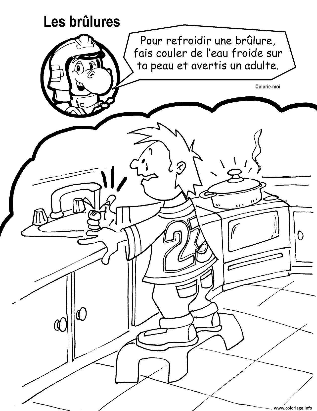 Dessin Refroidir une brulure eau froide par Crocfeu Coloriage Gratuit à Imprimer