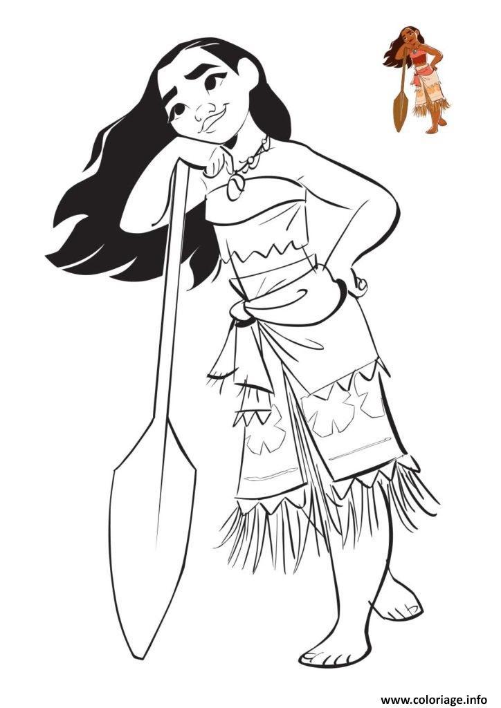 Coloriage Heroine Vaiana dessin