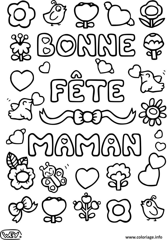 Coloriage Bonne Fete Maman 12 Mai dessin