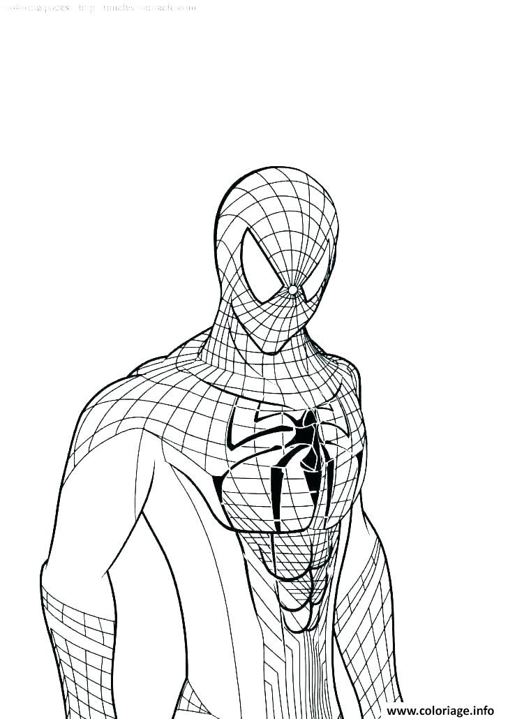 Coloriage Spider Man Far From Home 2019 Jecolorie Com