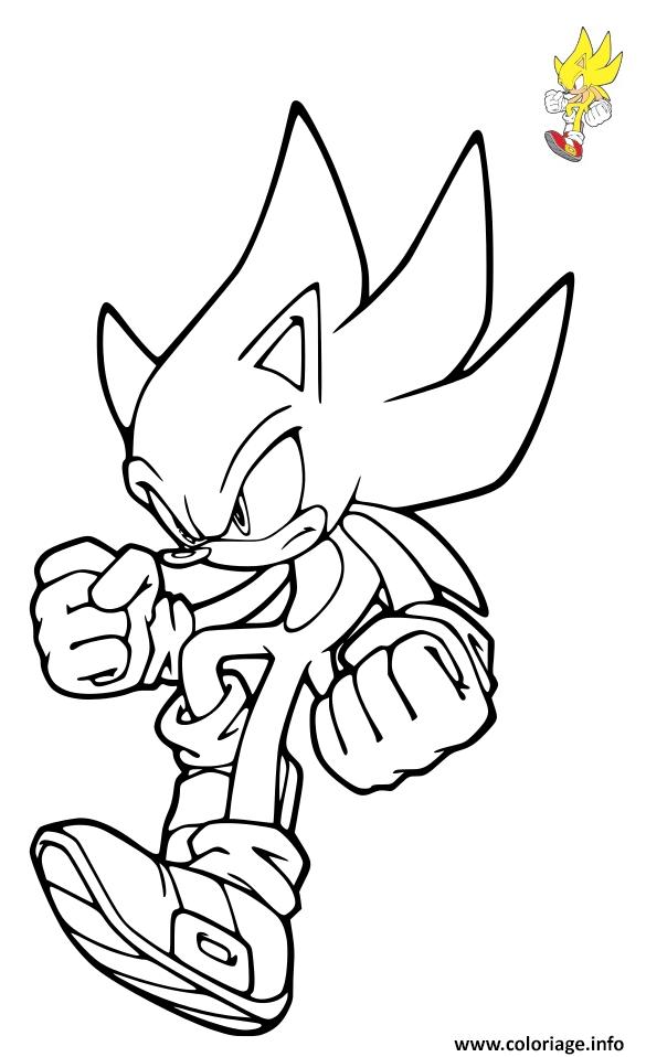 Coloriage Sonic Yellow Wisps Dessin Sonic à imprimer