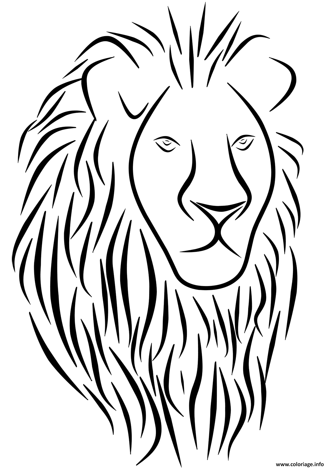 Coloriage Lion Tattoo Dessin à Imprimer