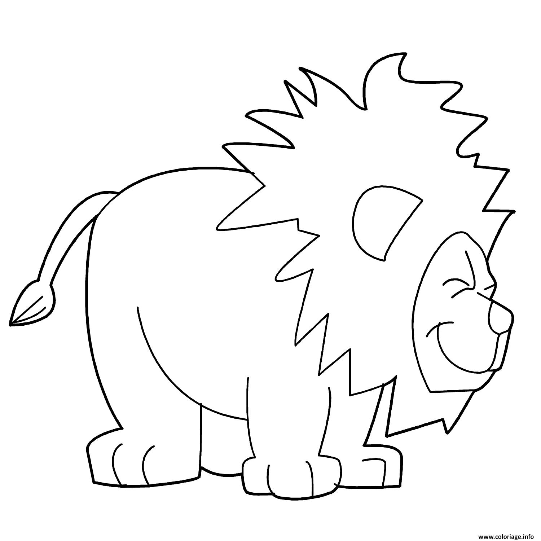 Dessin joyful lion Coloriage Gratuit à Imprimer