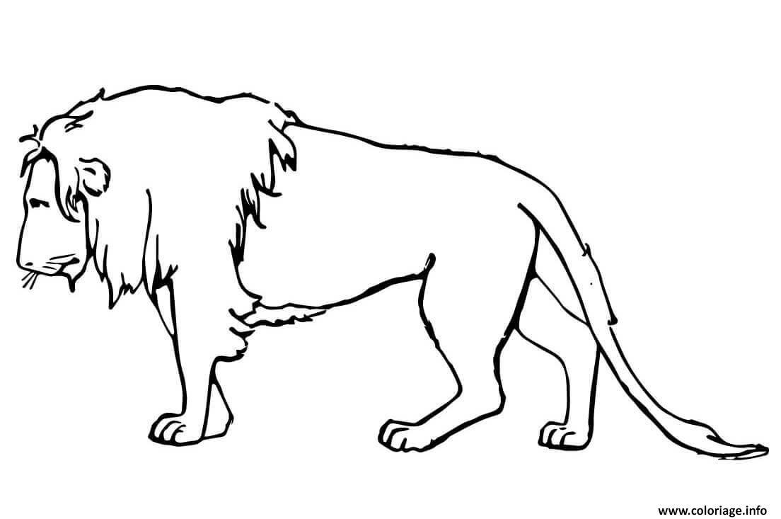 Coloriage Lion Triste Jecoloriecom