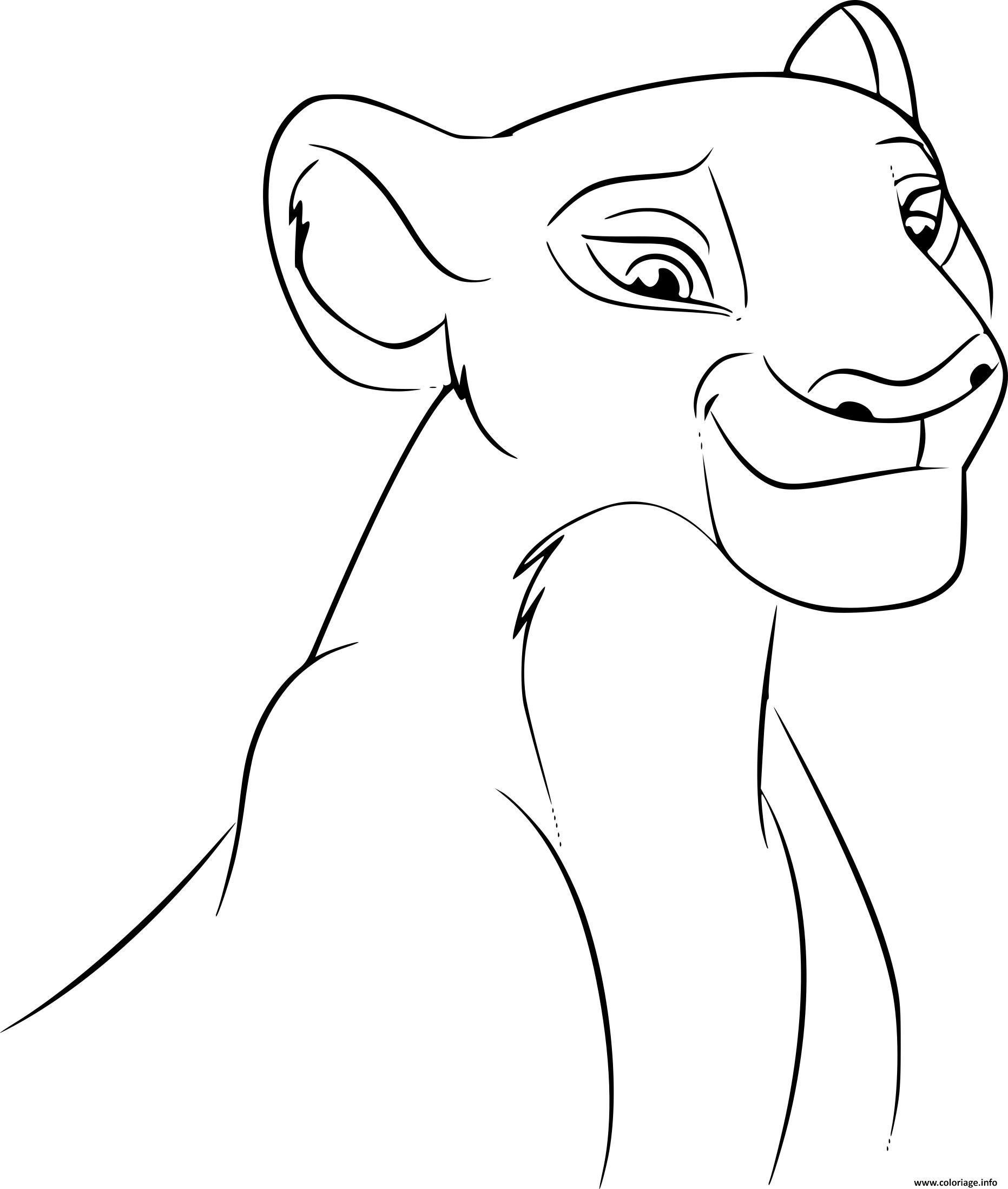 Coloriage Roi Lion Nala Disney Dessin