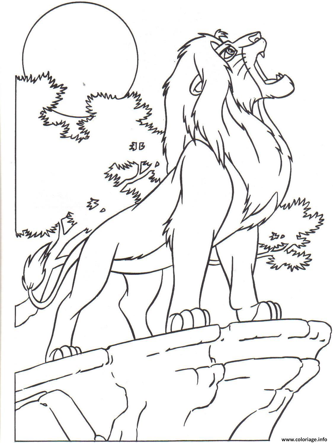 Coloriage Le Roi Lion 4 Jecolorie Com