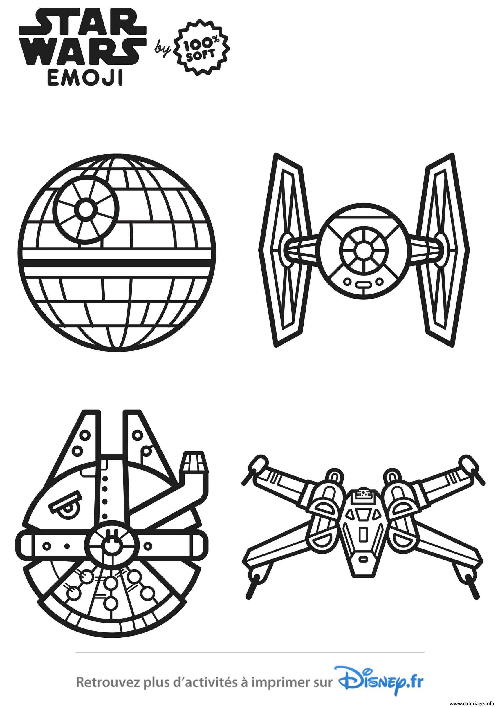 Coloriage Star Wars Vaisseaux Emoji Dessin Star Wars à Imprimer