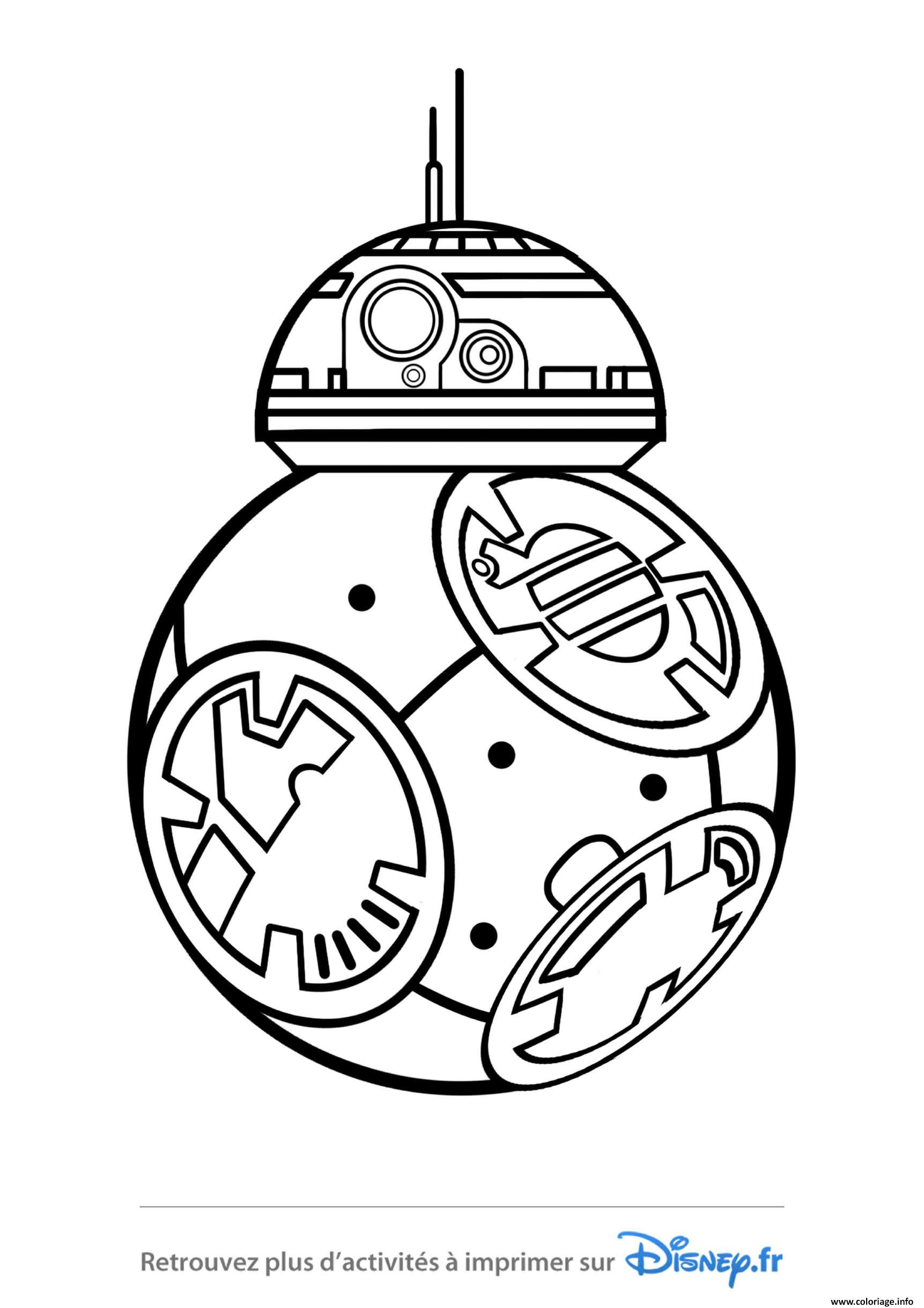 Coloriage Star Wars Bb8 Disney 2019 Dessin à Imprimer