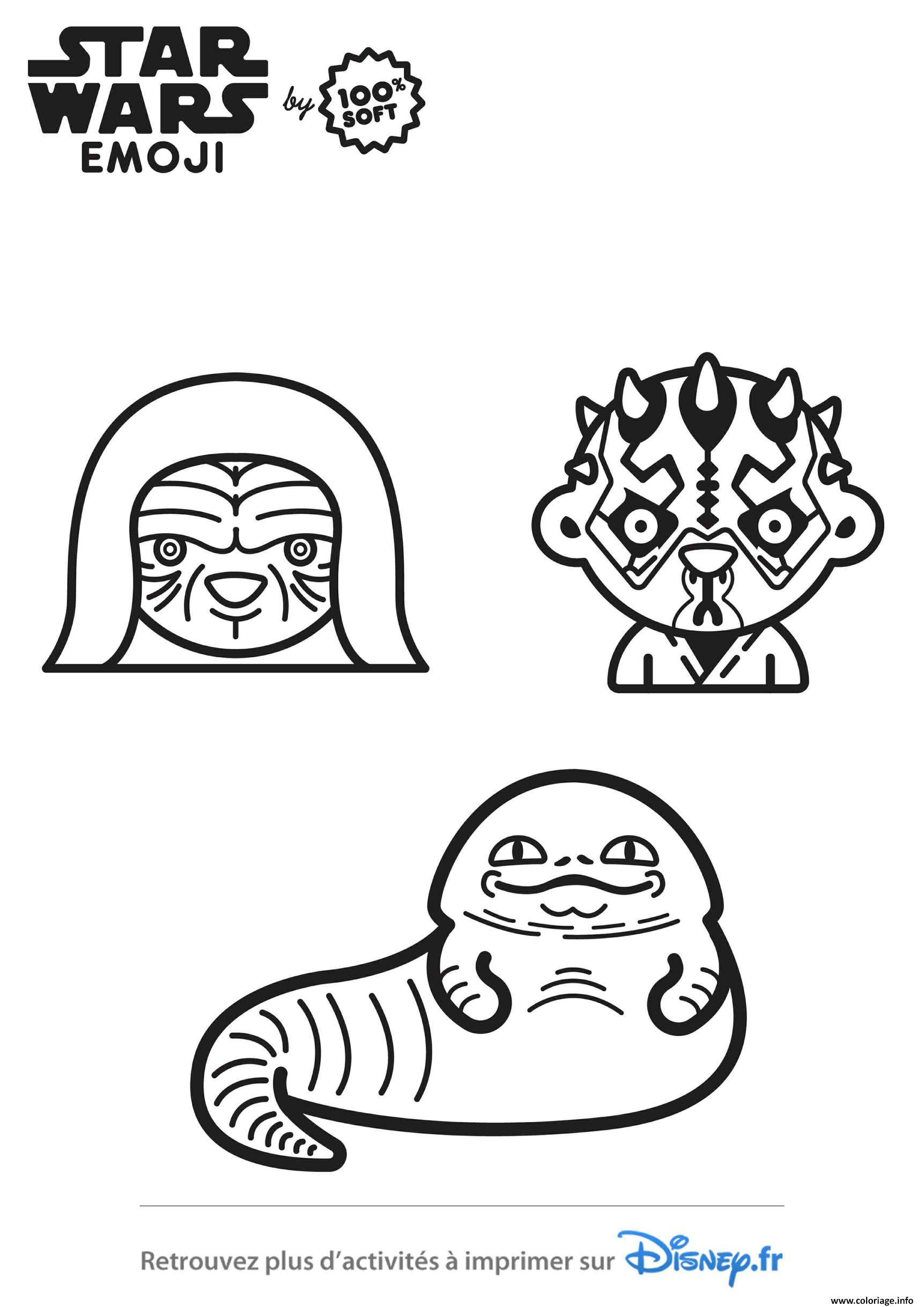 Dessin star wars emoji saga Coloriage Gratuit à Imprimer