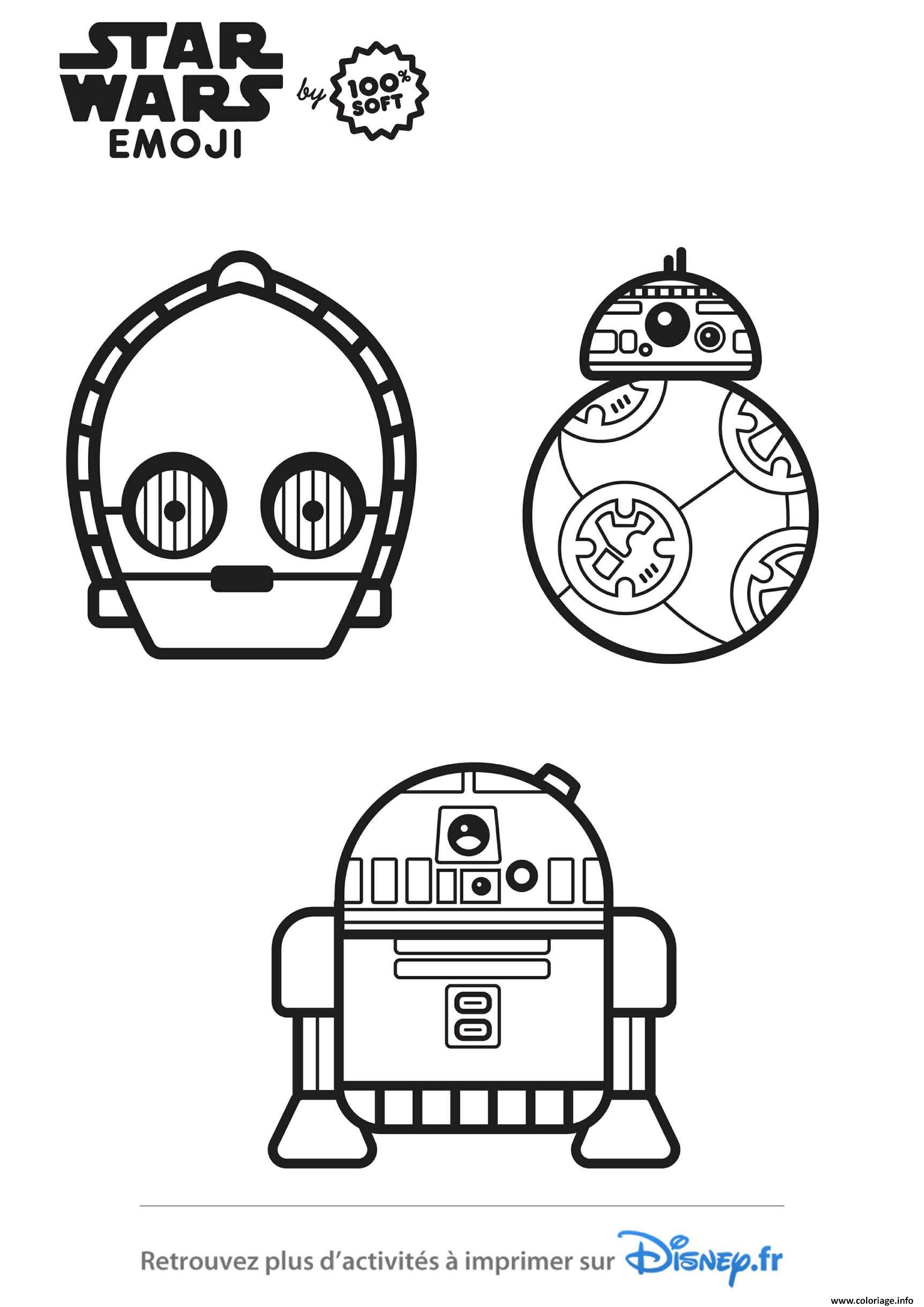 Dessin star wars personnages emoji 2 Coloriage Gratuit à Imprimer