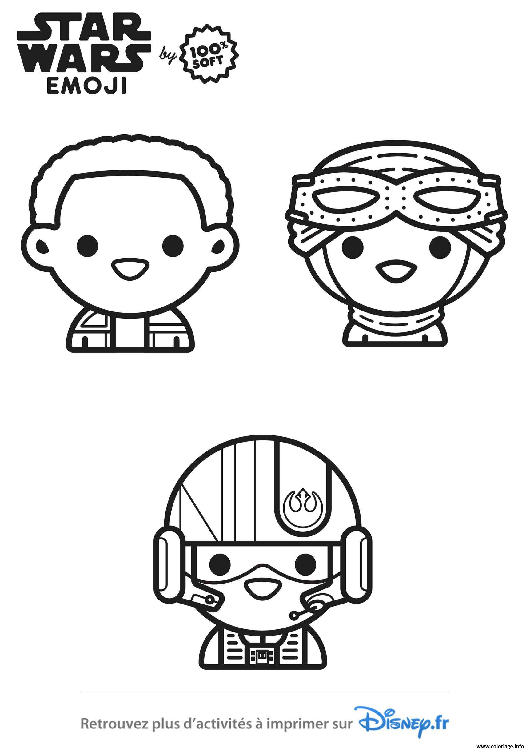 Dessin star wars pilotes emoji Coloriage Gratuit à Imprimer
