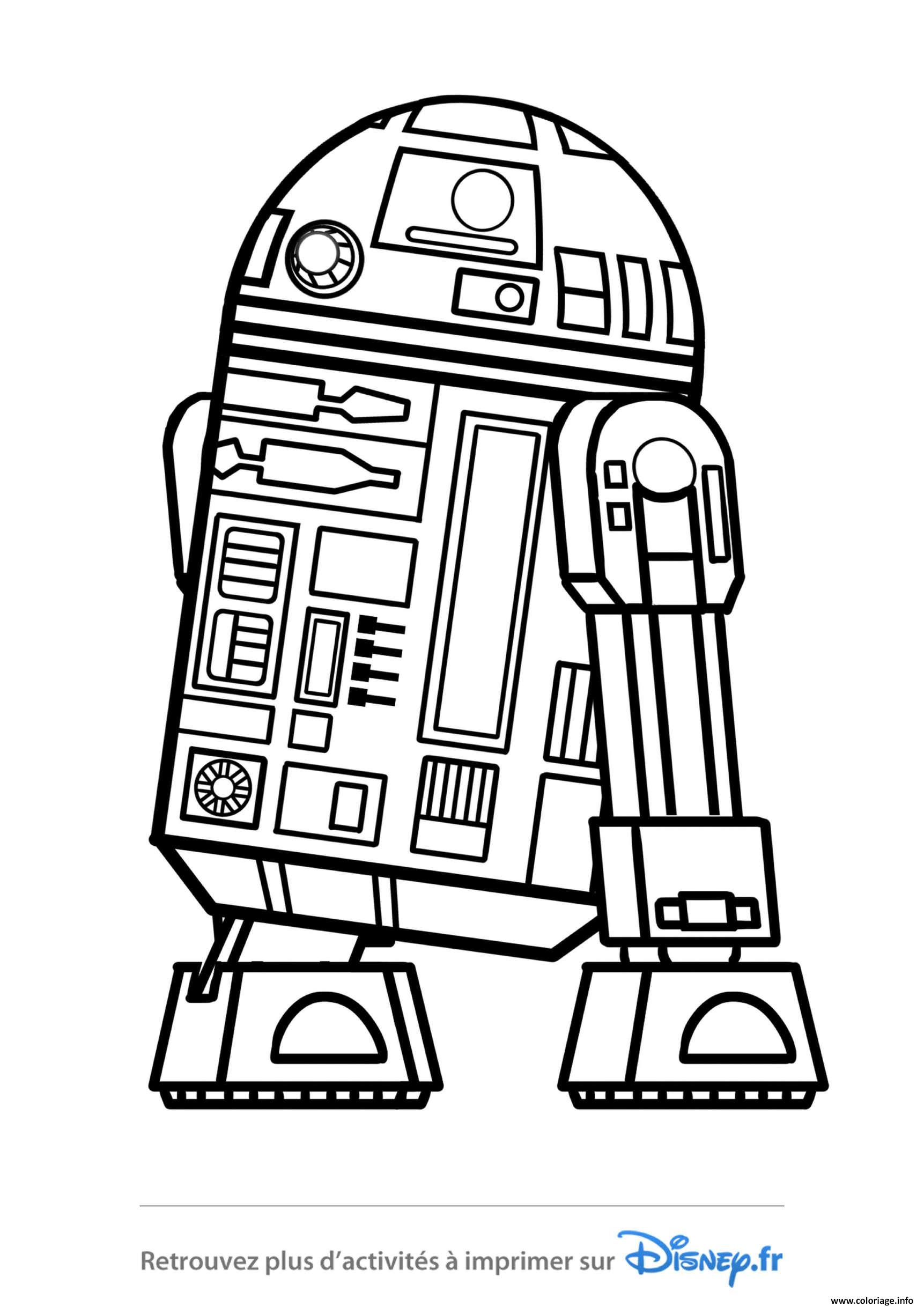 Coloriage Star Wars R2d2 Disney 2019 Dessin
