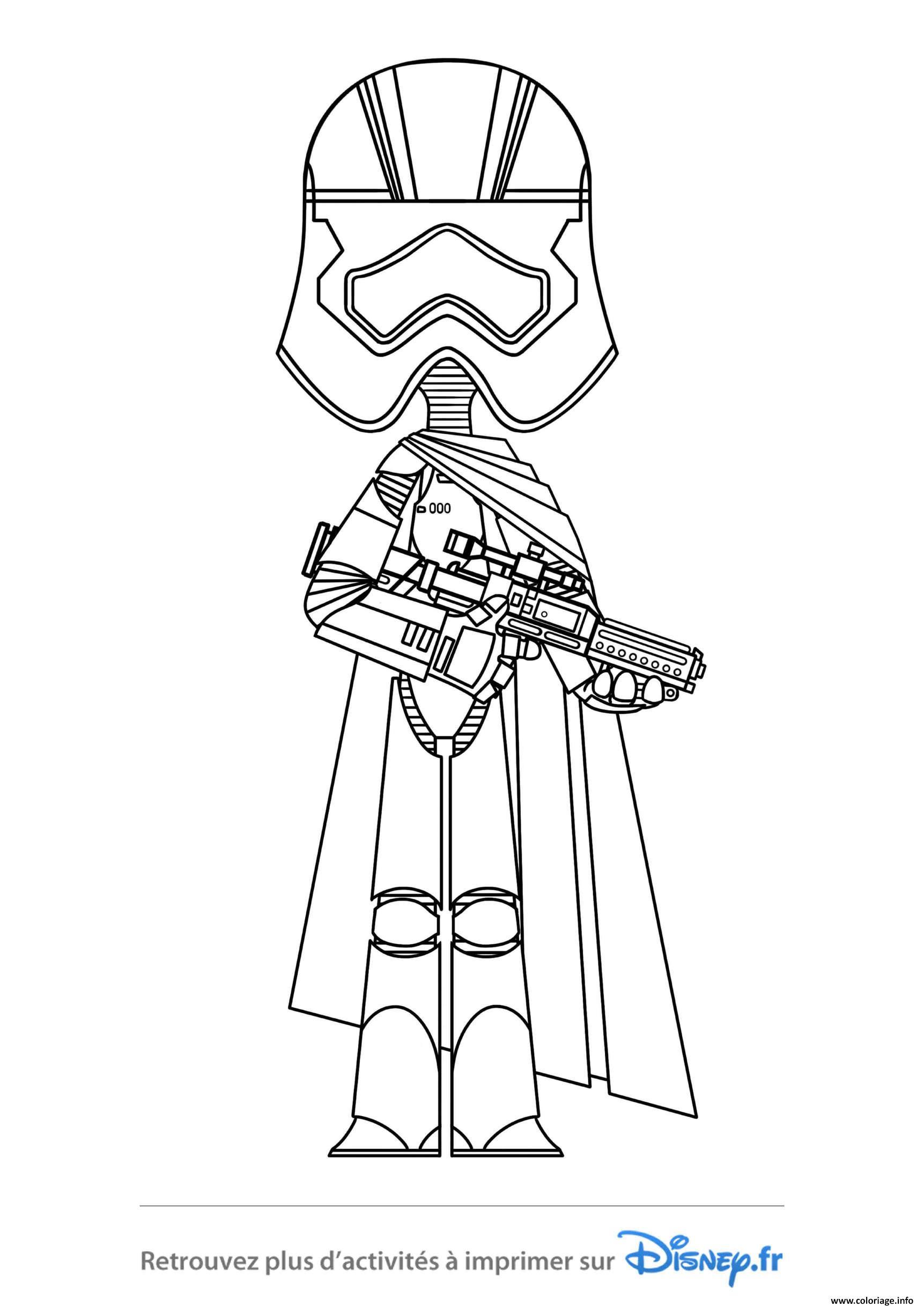 Coloriage Star Wars Phasma Dessin Star Wars à imprimer