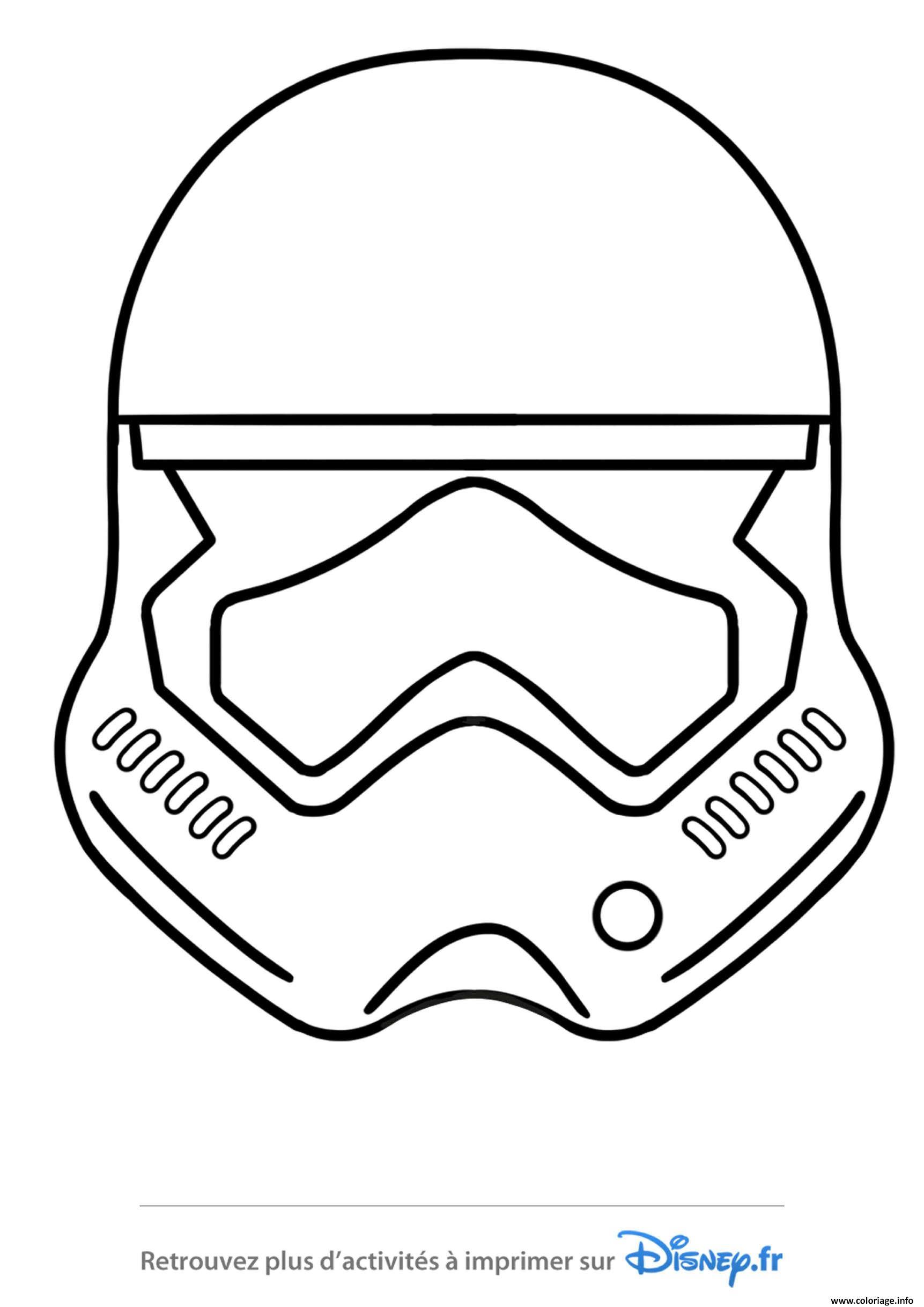 Coloriage Star Wars Casque Stormtrooper Emoji Jecolorie Com
