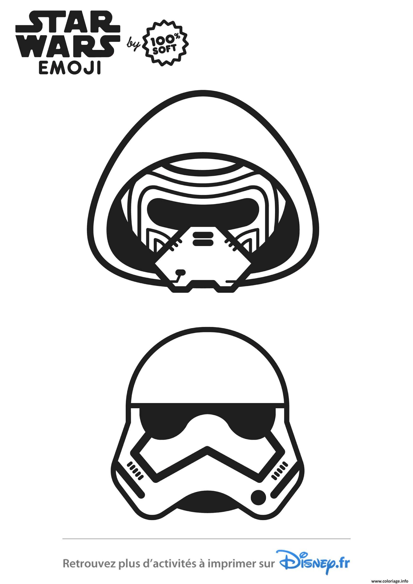 Coloriage Star Wars Stormtrooper Emoji Dessin