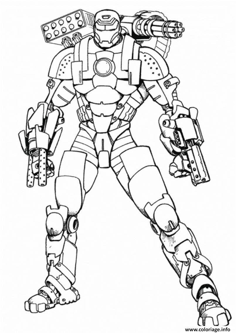 Coloriage Garcon Super Heros Robot dessin
