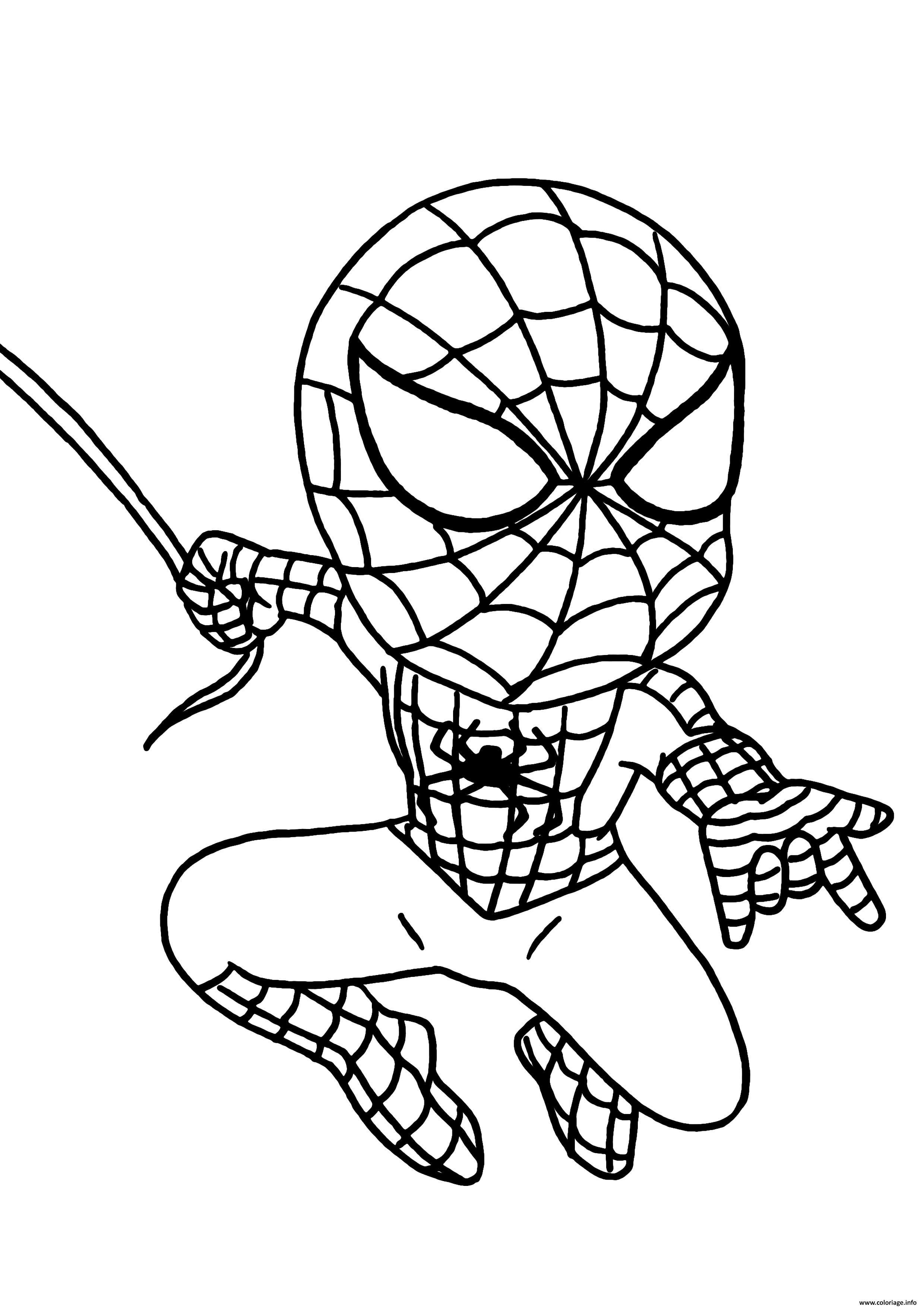 Dessin garcon super heros spiderman Coloriage Gratuit à Imprimer