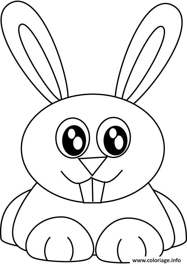 Dessin lapin mignon Coloriage Gratuit à Imprimer