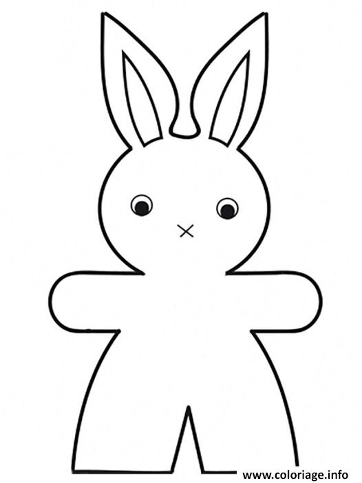 Dessin grand lapin facile Coloriage Gratuit à Imprimer