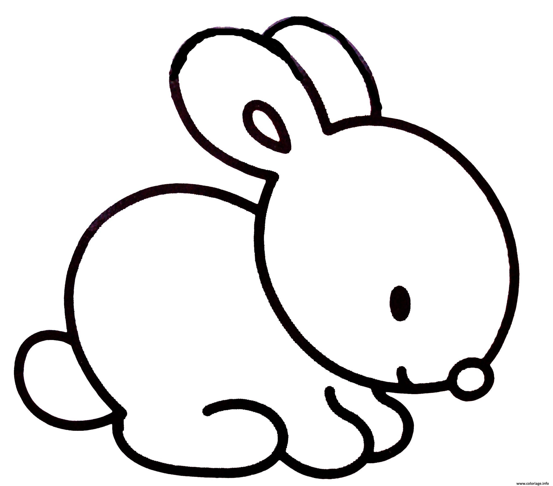 Coloriage Lapin Facile Simple Enfant dessin