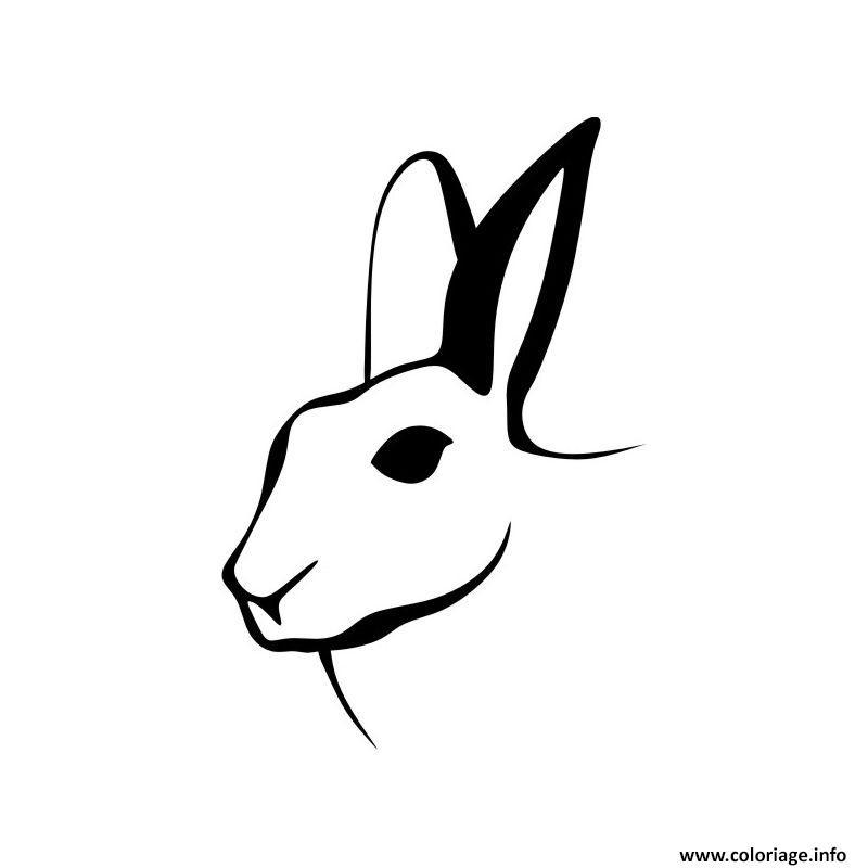 Dessin dessin tete de lapin Coloriage Gratuit à Imprimer