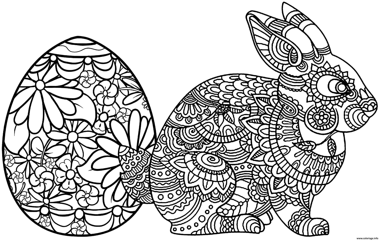 Coloriage lapni paques mandala - JeColorie.com