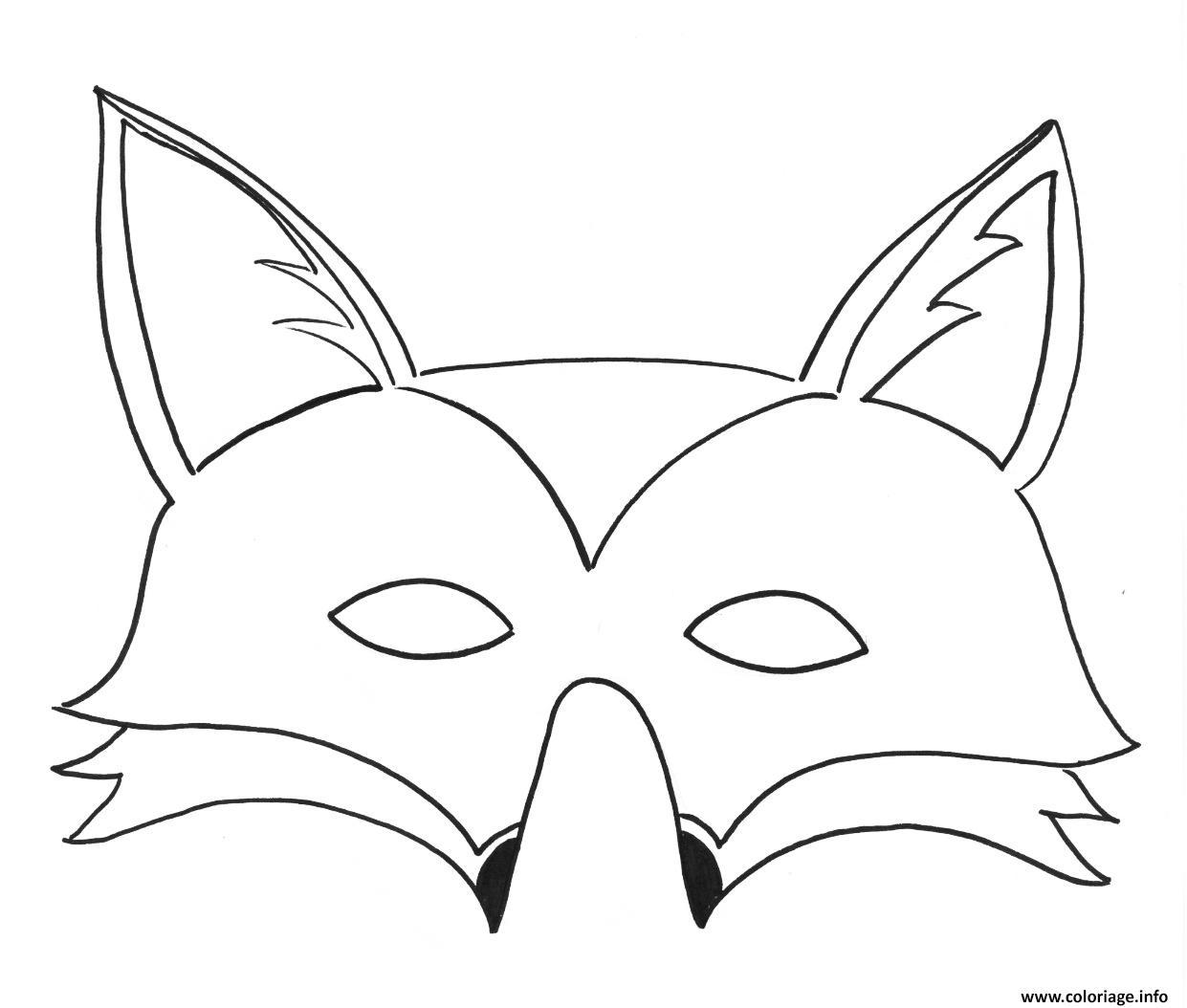 Coloriage masque de renard   JeColorie.com