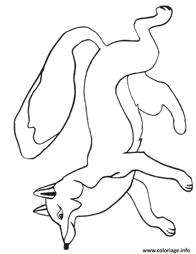 Dessin renard dans la nature Coloriage Gratuit à Imprimer