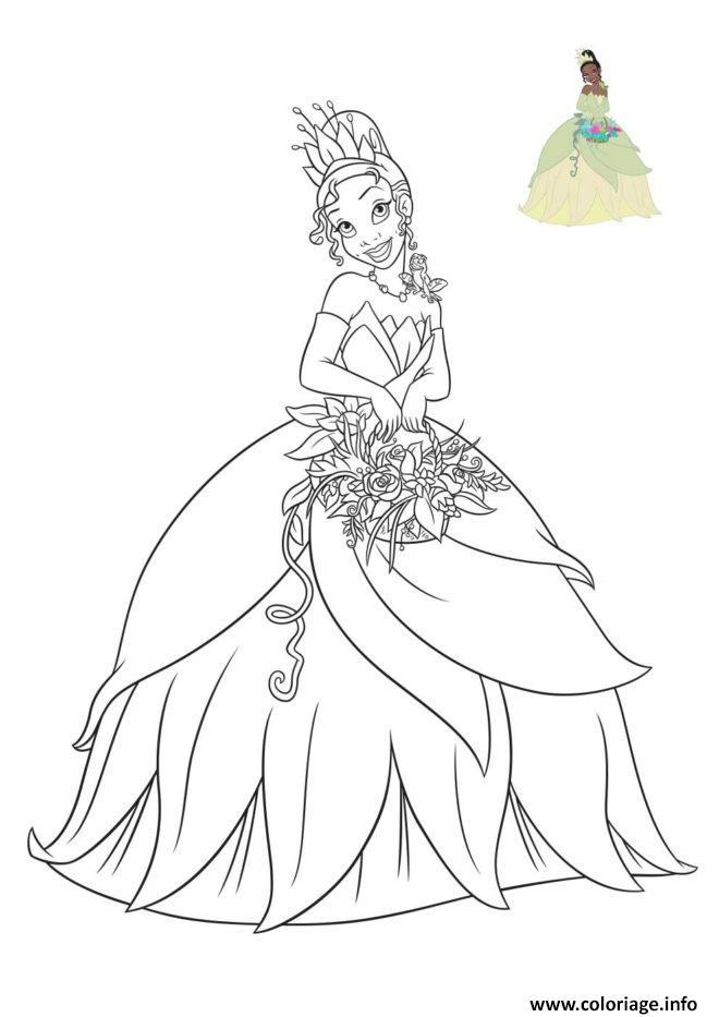 Coloriage La Princesse Et La Grenouille Dessin Princesse Disney A Imprimer