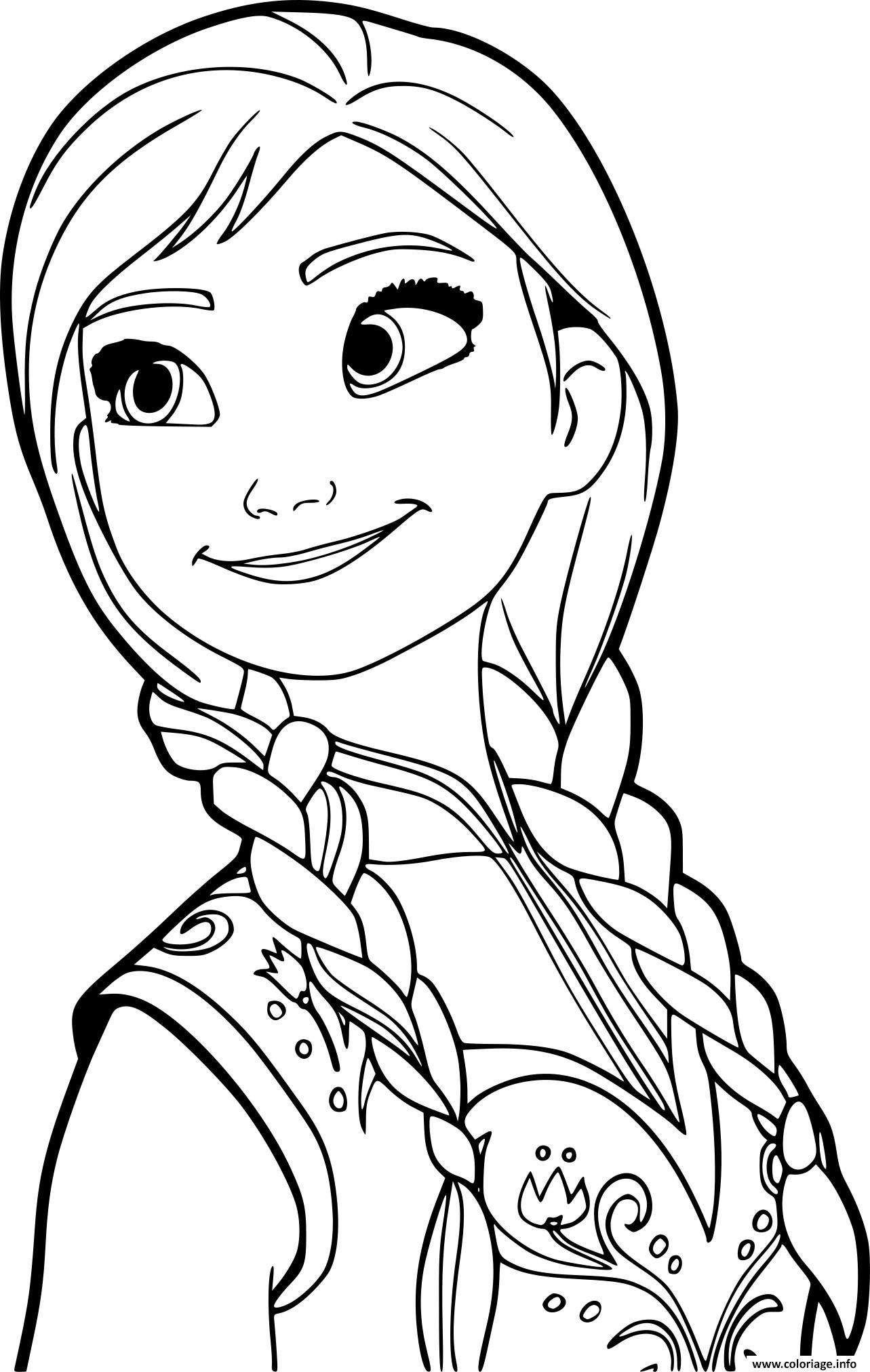 Coloriage princesse anna de la reine des neiges 2 - JeColorie.com