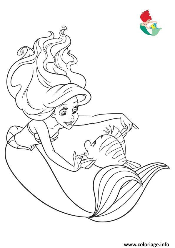 Coloriage Disney Princesse Ariel La Petite Sirene