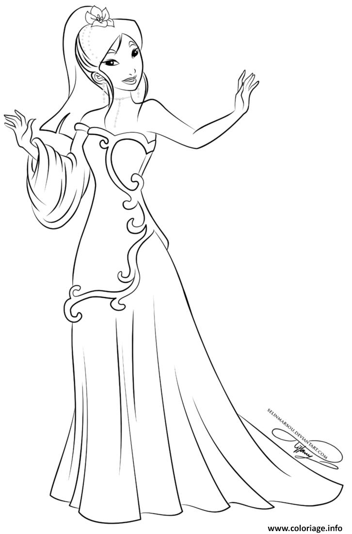 Coloriage Disney Princesse Mulan Dessin Princesse Disney à ...