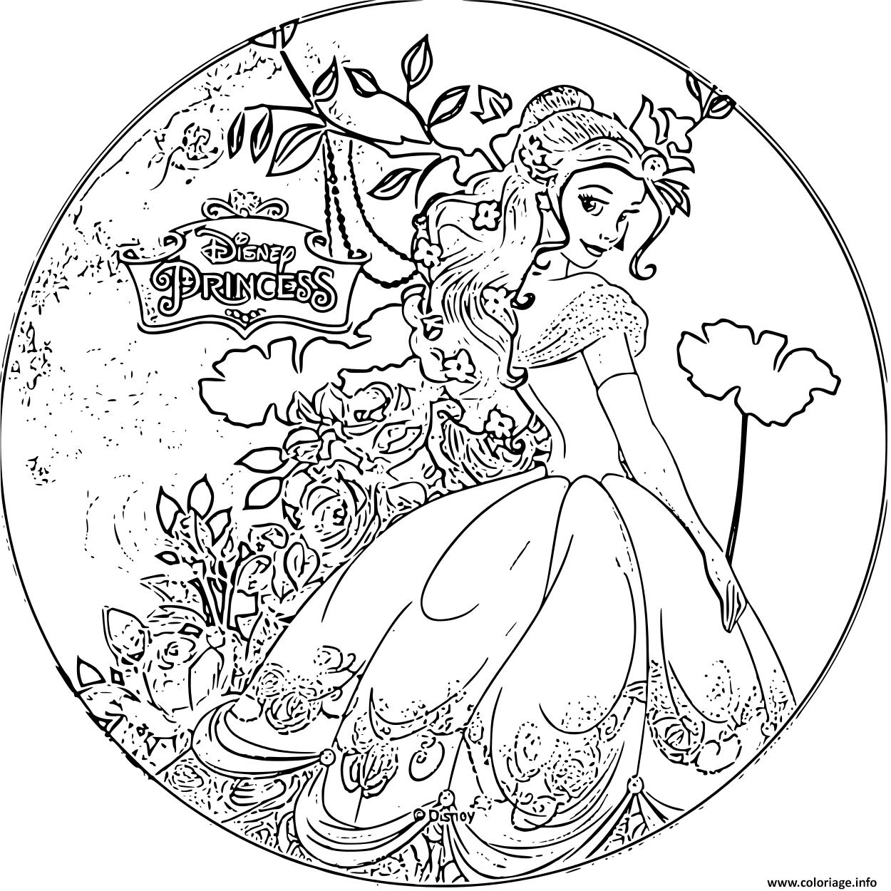 Coloriage Disney Princesse Belle Dessin