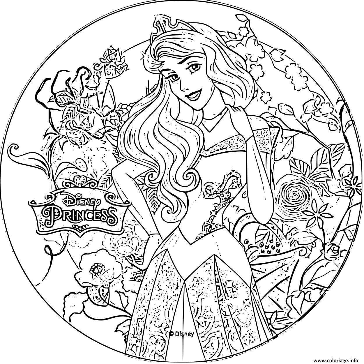 Coloriage disney princesse aurore - JeColorie.com