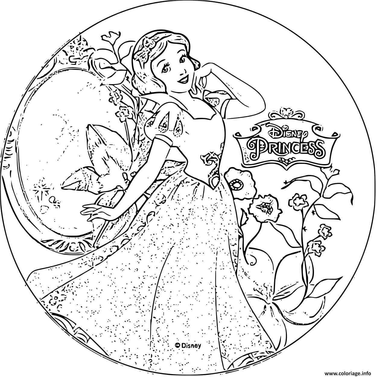 Coloriage Disney Princesse Blanche Neige 1937 Jecolorie Com