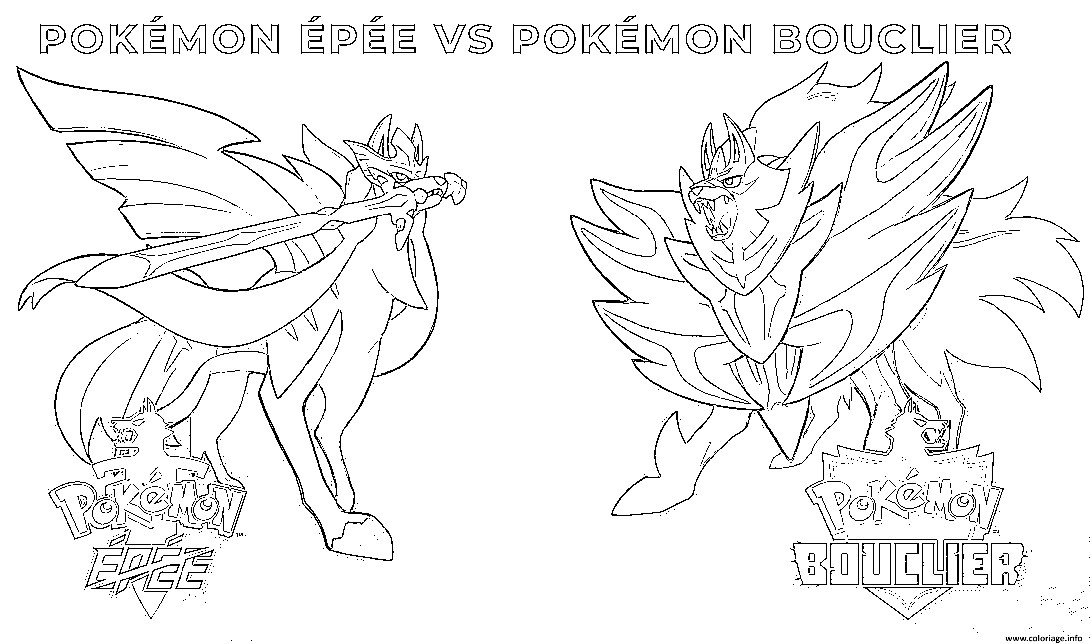 Coloriage Pokemon Epee Pokemon Bouclier 2019 Dessin