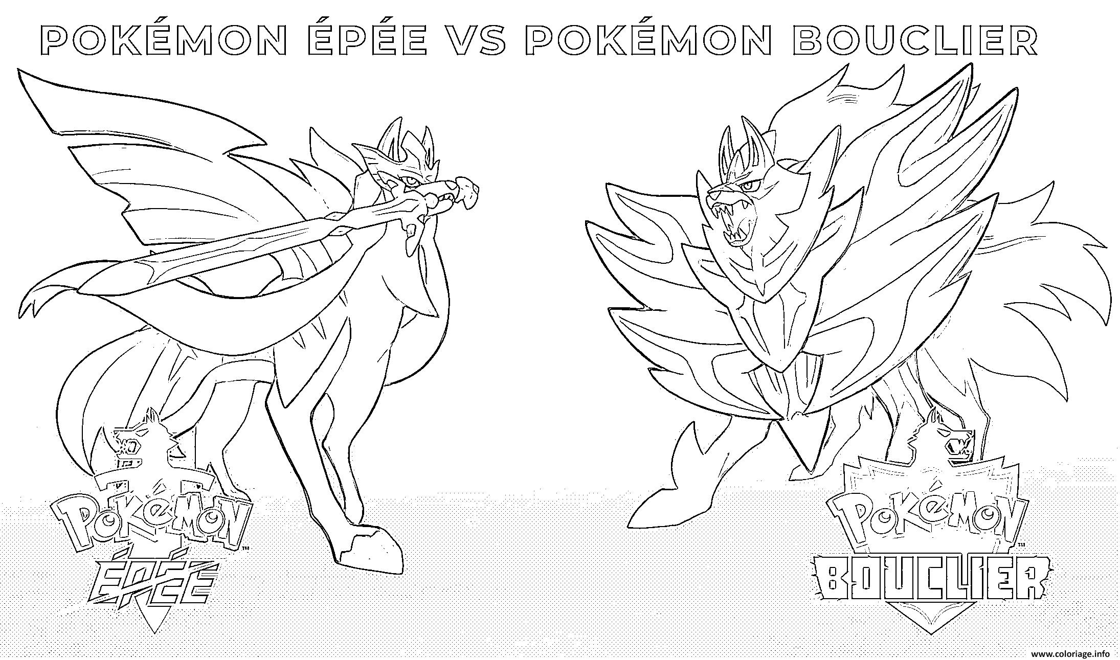 Coloriage Pokemon Epee Pokemon Bouclier 2019 Jecolorie Com