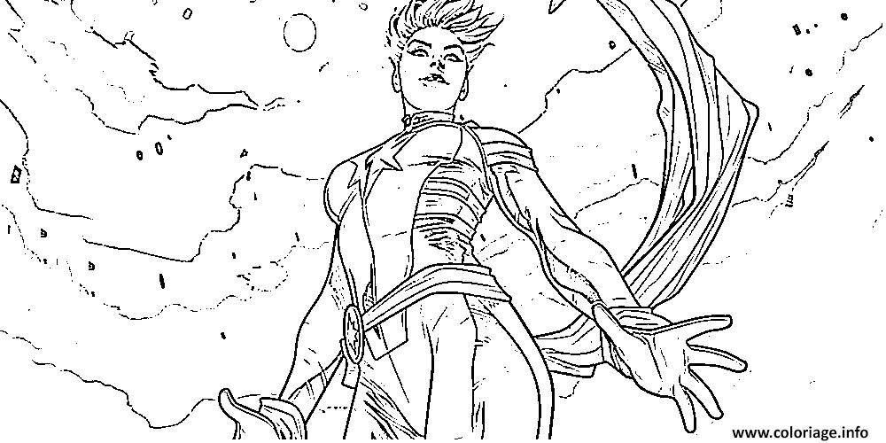 Coloriage Captain Marvel Comics Dessin Captain Marvel A Imprimer