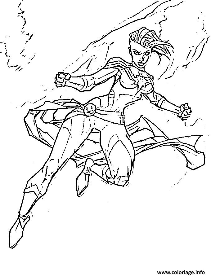 Dessin Captain Marvel Fan Drawing Carol Danvers Coloriage Gratuit à Imprimer