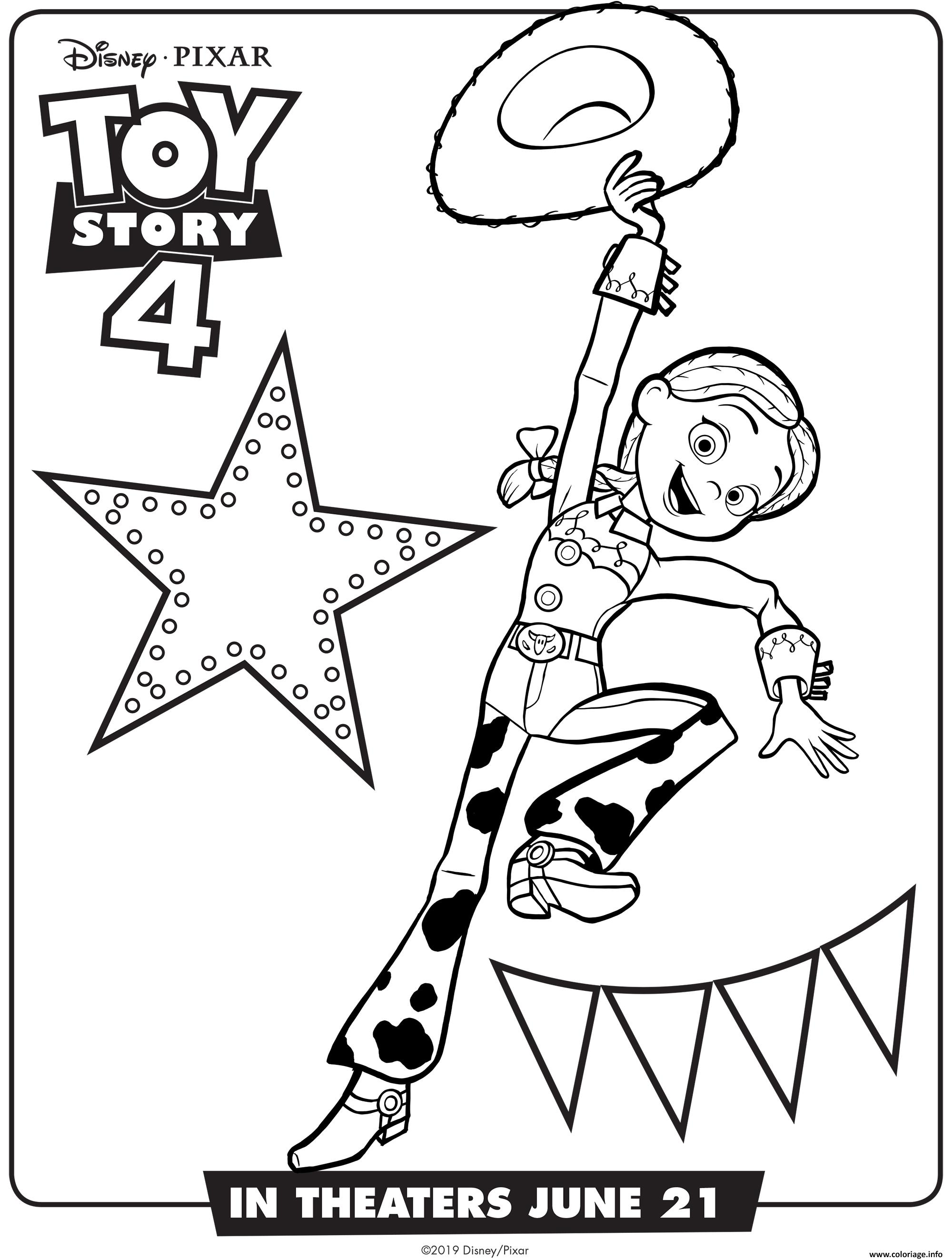 Coloriage Toy Story 4 Jessie Jecolorie Com