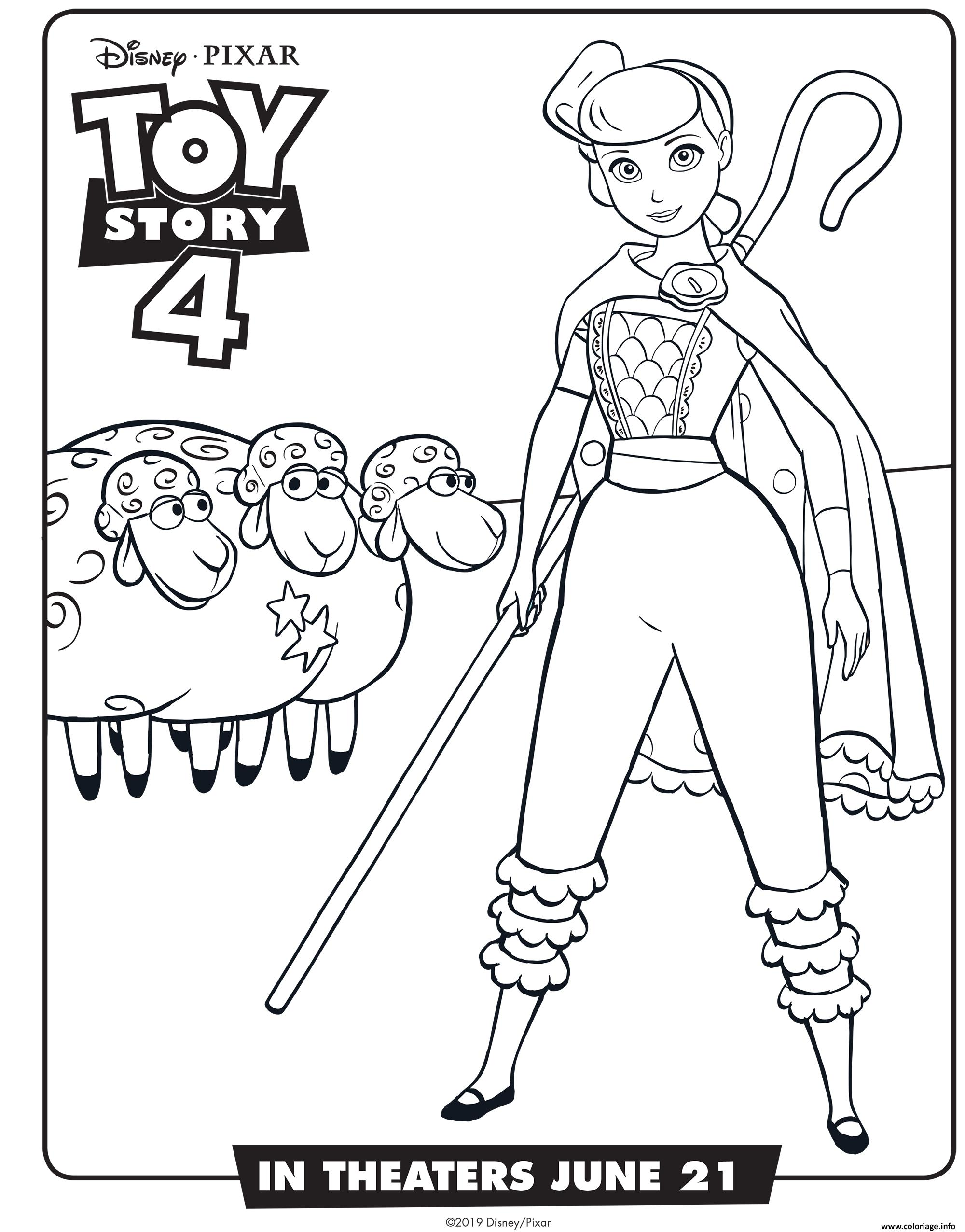 Coloriage Toy Story 4 Bo Peep Dessin