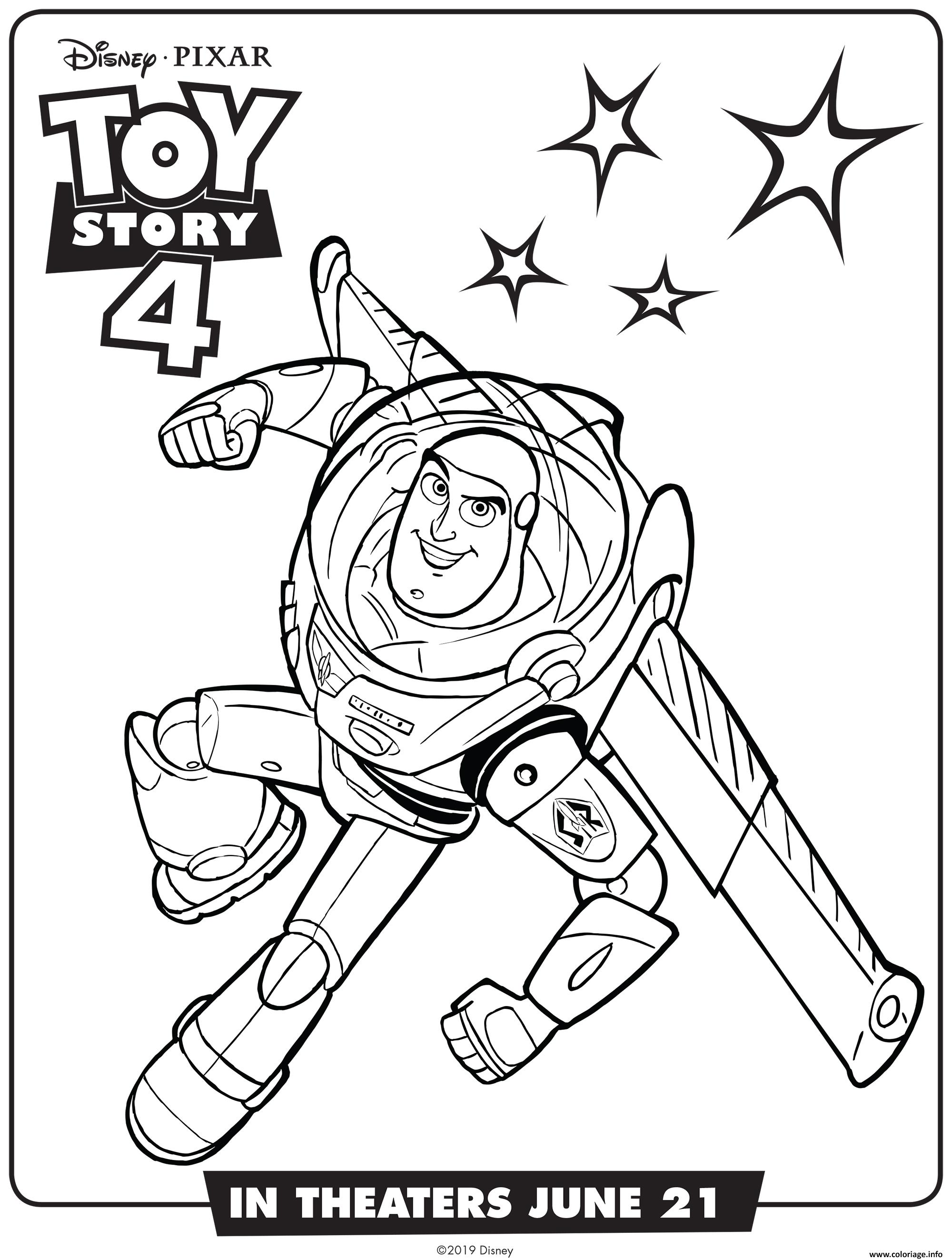 Coloriage Toy Story 4 Buzz Lightyear Jecolorie Com