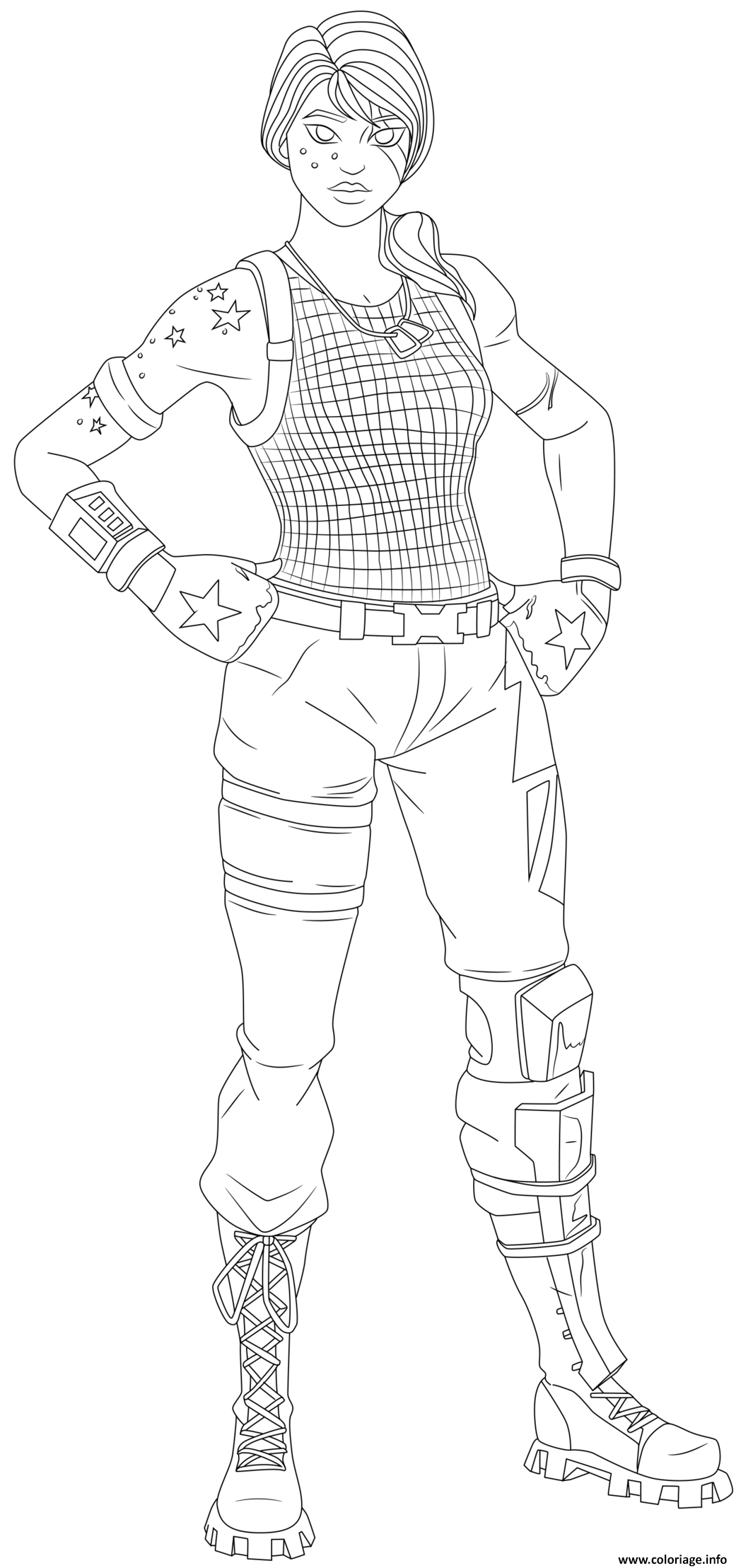 Coloriage Sparkle Specialist Fortnite Skin Hd Jecolorie Com