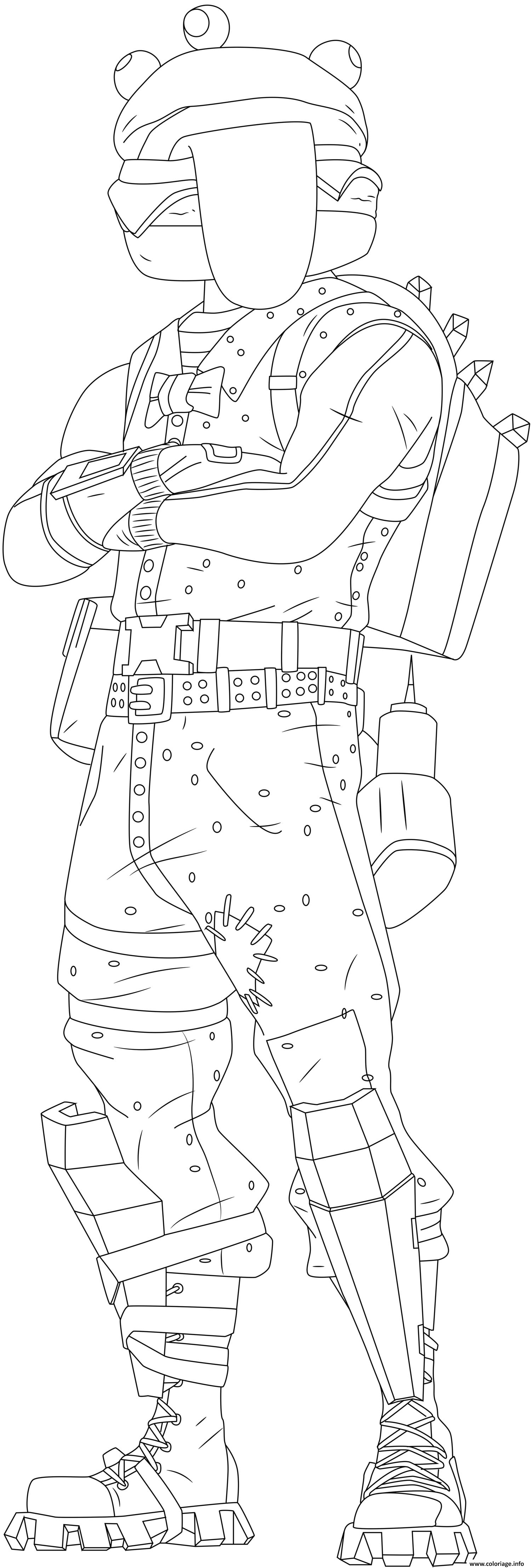 Coloriage Beef Boss Fortnite Skin Hd dessin