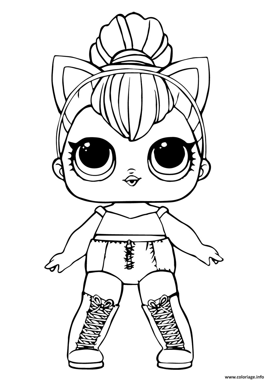 Coloriage Lol Doll Kitty Queen Dessin Lol Surprise à imprimer