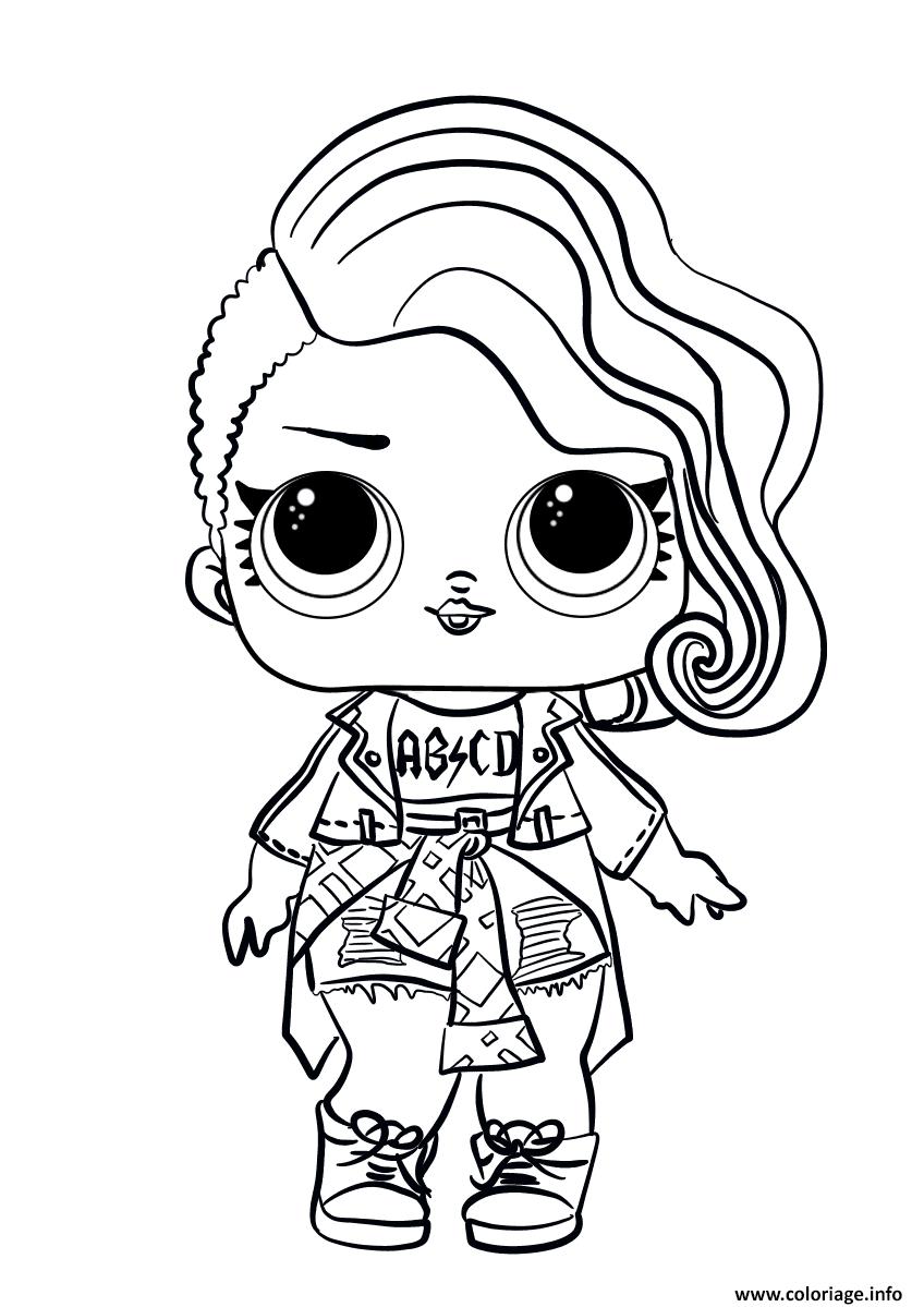 Coloriage Lol Surprise Doll Rocker Dessin Lol Surprise A Imprimer